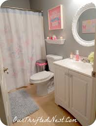 blue and pink bathroom designs. Bathroom Decor: Small Little\u0027s Girl\u0027s Butterfly Pink, Gray, Blue, Purple, And Blue Pink Designs