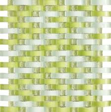 Vintrav Lime Green 3D Waves Glass Mosaic Tiles, Sample contemporary-mosaic- tile