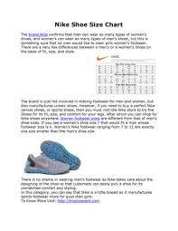 Nike Shoe Size Chart By Mysoesspot Issuu