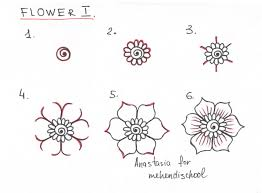 Small Picture how to draw a beautiful and smooth mehndi flower Small and easy