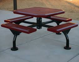outdoor metal table. Outdoor Metal Picnic Tables Table