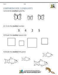 Math Worksheets Kindergarten Printable Work Sheets Comparing Size ...