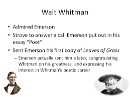 walt whitman transcendentalism a philosophical and literature  4 walt whitman