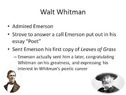 walt whitman transcendentalism a philosophical and literature  4 walt whitman