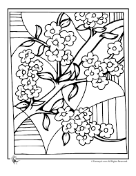 Small Picture Cherry Blossom Coloring Pages Cherry Blossom Art Coloring Page