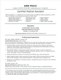 Free Medical Assistant Resume Template Cool Medical Assistant Resume Template Free Medical Assistant Resume