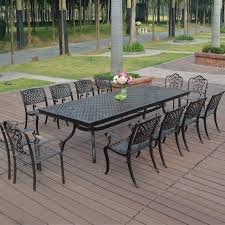 cast aluminum patio chairs. 13-piece Cast Aluminum Patio Furniture Garden Outdoor Transport By Sea Chairs