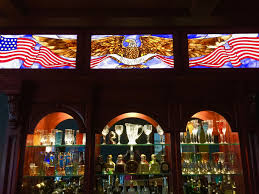 stained glass eagle american flag