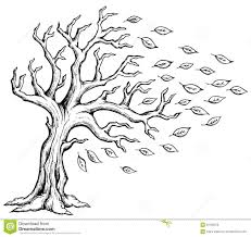 Autumn Tree With Leaves Coloring Page - Bltidm
