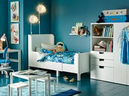 ikea childrens furniture bedroom. a blue childrenu0027s bedroom with white extendable bed wardrobe table and desk ikea childrens furniture r