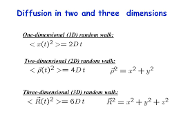 6 diffusion in two and three dimensions one dimensional 1d random walk two dimensional 2d random walk three dimensional 3d random walk