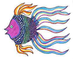 Brianna Fish Drawing by Ed Brodsky