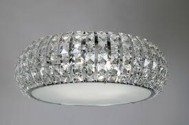 venus crystal semi flush mount ceiling light
