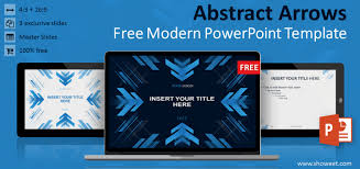 Modern Powerpoint Template Free Abstract Arrows Powerpoint Template