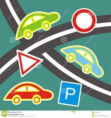 Behang Auto Vector Illustratie Illustratie Bestaande Uit Groen
