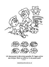 Kleurplaat Voetballer Puzzel Spelletjes