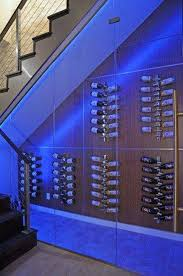 wine cellar lighting. Storage And Organization , Wine Cellar Under Stairs : With Led Lighting