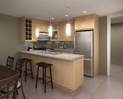 Maple Kitchen Cabinets Light Maple Cabinets In A Casual Kitchen By