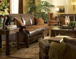 Leather Couch Living Room Wall Colour With Brown Furniture Leather