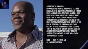 Designated Wiki Frank Thomas Designated Hitter 1 Minute Wiki Youtube