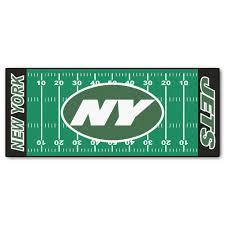 fanmats new york jets 3 ft x 6 ft football field rug runner rug