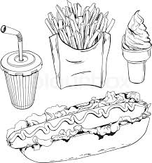 fast food clipart black and white. Fine White To Fast Food Clipart Black And White