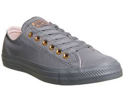 sentinel womens converse all star low leather light carbon potpourri trainers shoes