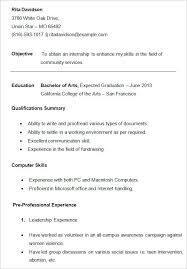 College Grad Resume Template