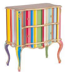 bright painted furniture. bright paint gives new life to this chair ainteriordesign bold stripes enliven chest painted furniture a