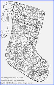 Mini Adult Coloring Books Christmas Stocking Coloring Page Coloring