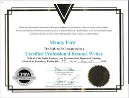 Certified Resume Writer LinkedIn Resume Writer CPRW Professional Gorgeous Certified Professional Resume Writers