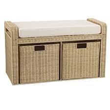 rattan storage bench. Wonderful Storage Household Essentials Woven Rattan Storage Bench 19u0026quot H X 34u0026quot  With Bench
