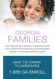Georgia Families Health Plan Comparison Chart Medicaid Georgia Medicaid Caresource