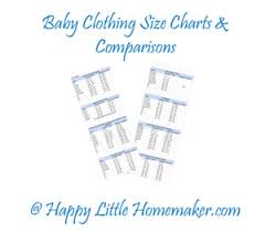 Baby Clothing Sizes Charts By Height Weight For Common