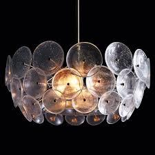 glass disc chandelier flushmount