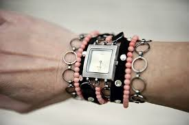 view in gallery diy watch band chains beads and rhinestones