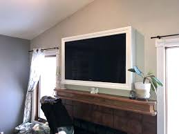flat screen tv frame with motorized art cover and box by flat screen tv frame