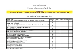 Equipment Schedule Template Equipment Maintenance Schedule