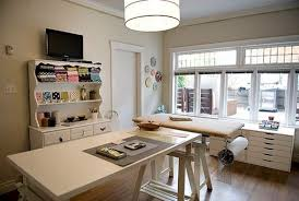 office craft ideas. Home Office Craft Room Design Ideas | Homesfeed With L