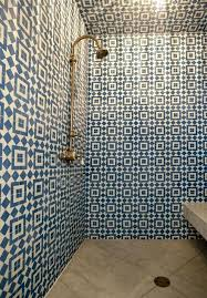 blue and white bathroom tile kitchen