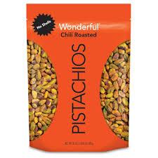 Wonderful Pistachios Roasted Lightly Salted 16 Oz Wonderful Pistachios No Shells Chili Roasted 22 Ounce
