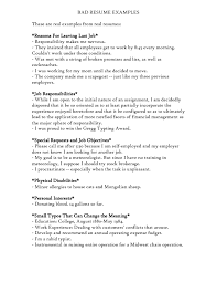 Examples Of A Bad Resume Free Resume Templates