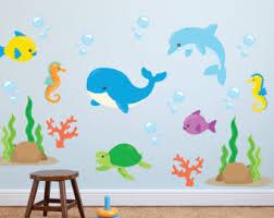 sea life wall art stickers