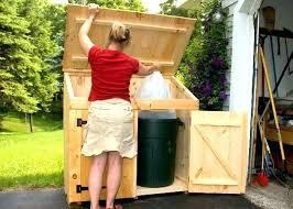 outdoor garbage storage bins bin outside can garb