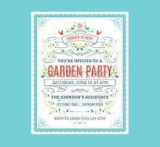 14 Printable Psd Garden Party Invitation Templates Psd