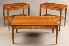 cherry coffee table and end tables and fine furniture makers custom end table dark cherry coffee
