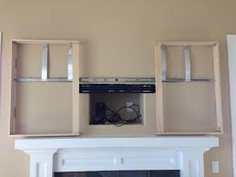 Wall Mounted Tv Frame How To Build A Wall Hung Tv Cabinet Cabinet Shelving Tv