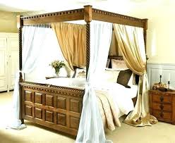 Amazing Four Post Canopy Bed Curtains 4 Poster Fantasy Palace Net ...