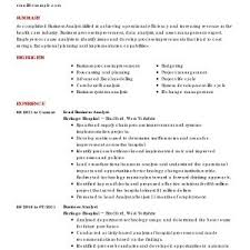 Business Analyst Resume Samples Best Of Business Analyst Resume