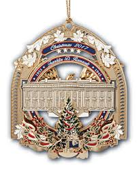2017 White House Christmas Ornament Back